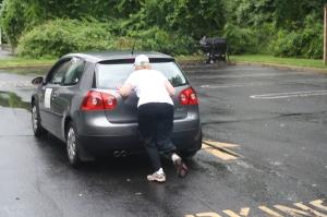 I Can Do IT Mary..push a car,NO PROBLEM!
